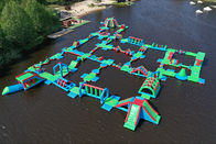 2020 New Outdoor Water Park  Inflatable / Floating Water Obstacle Course Manufacturer