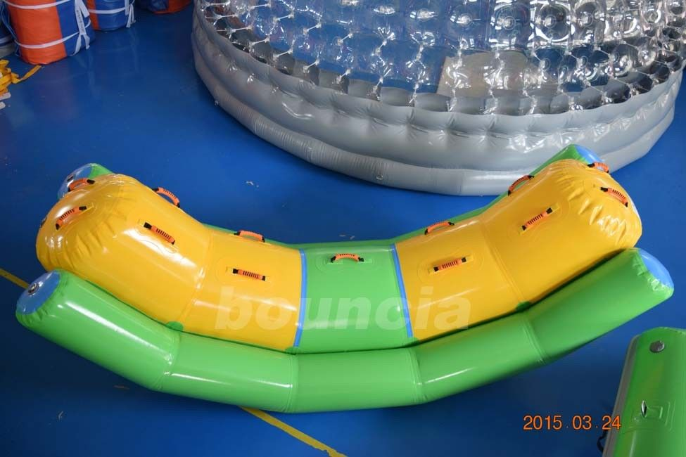Commercial Grade and Durable Inflatable Water Totter With Durable Handles