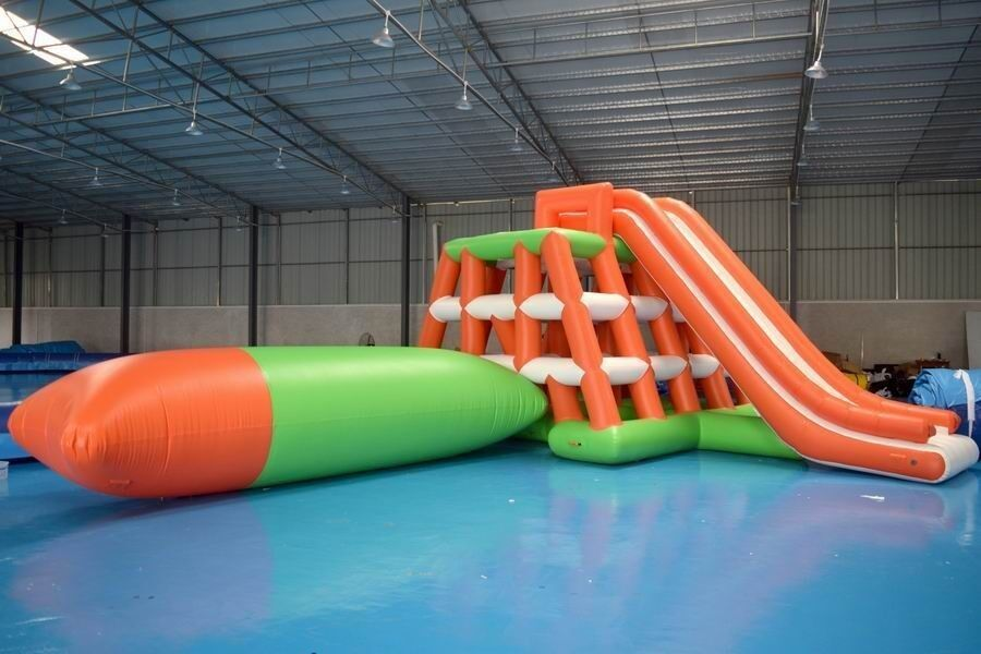 0.9mm PVC Tarpaulin Inflatable Water Sports /  Water Park Games With Blob