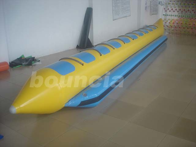 Inflatable Towable Banana Boat With 2.0mm PVC Tarpaulin Bottoms For Ocean