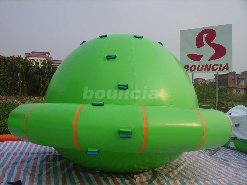 Green Color Commercial Grade PVC Tarpaulin Inflatable Saturn Rocker