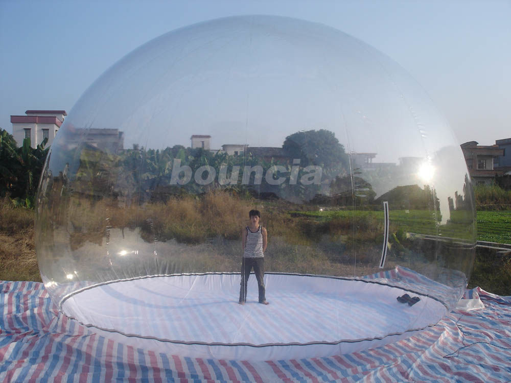 Transparent Inflatable Show Ball With Durable PVC Tarpaulin Base