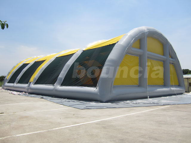 30mL*18mW*8mH Airtight Inflatable Paintball Field For Sale