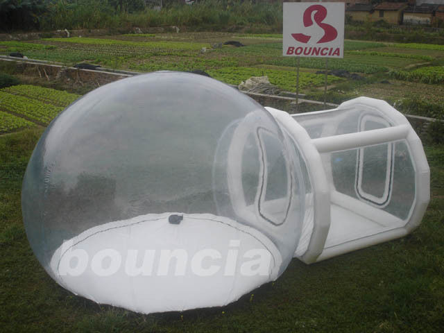 0.5mm PVC Or TPU Inflatable Trasparent  Bubble Tent For Trade Show