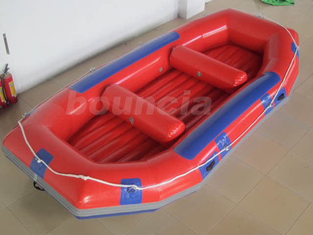 Red Inflatable Rafting Boat , Inflatable Dinghy Boat For Fishing Or River